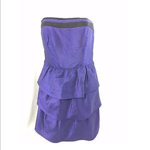 Max and Cleo Deep Blue Purple Strapless Sexy Dress